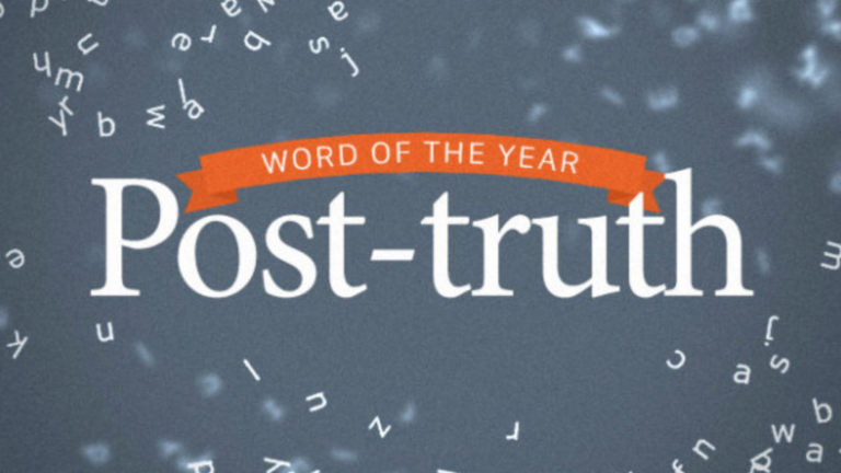 Post-Truth is the Word of the Year